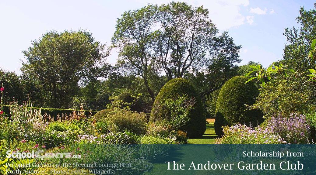 The Andover Garden Club Announces Scholarship for 2016